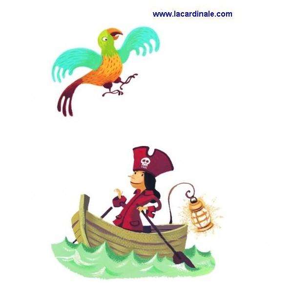 Stickers adhesifs muraux bateau pirate librairie - Decoration stickers muraux adhesif ...
