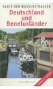 Map of German Waterways Deutschland and Beneluxländer