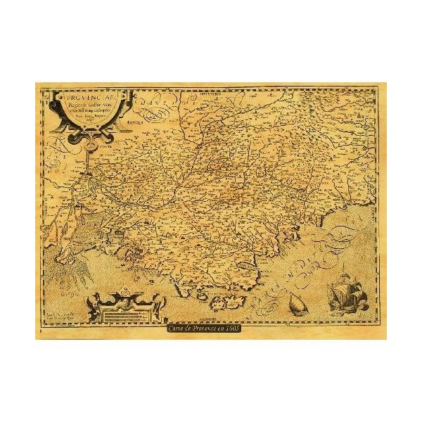 carte ancienne provence en 1605 librairie maritime la cardinale. Black Bedroom Furniture Sets. Home Design Ideas