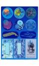 Planche autocollants animaux marins et plantes