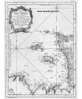 Carte ancienne - Carte réduite des Isles de Jersey Grenesey et d'Aurigny (1757)